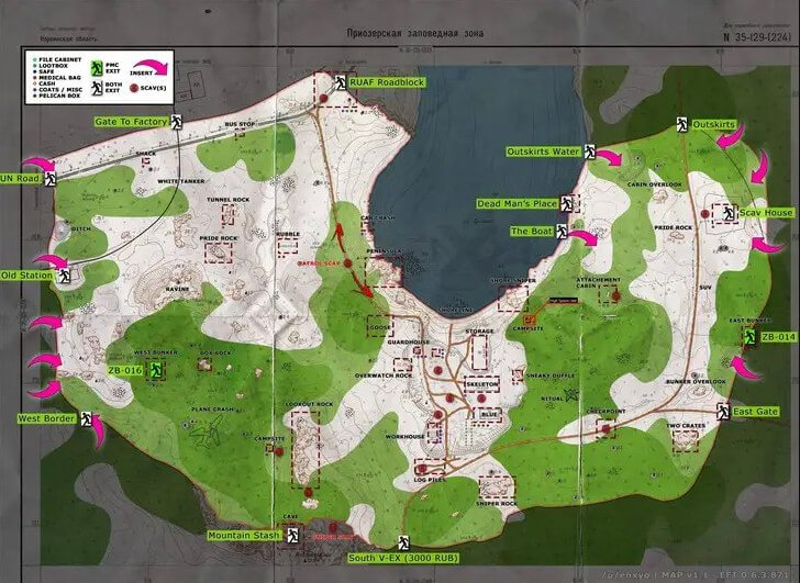 woods map tarkov