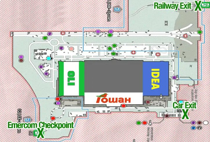Escape fromTarkov Interchange Map