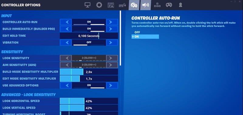 mouse settings fortnite