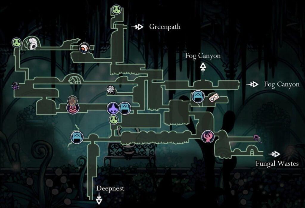 Queen's Garden Map