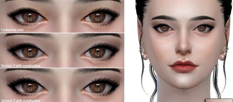 Eyelashes sims 4 c lashes