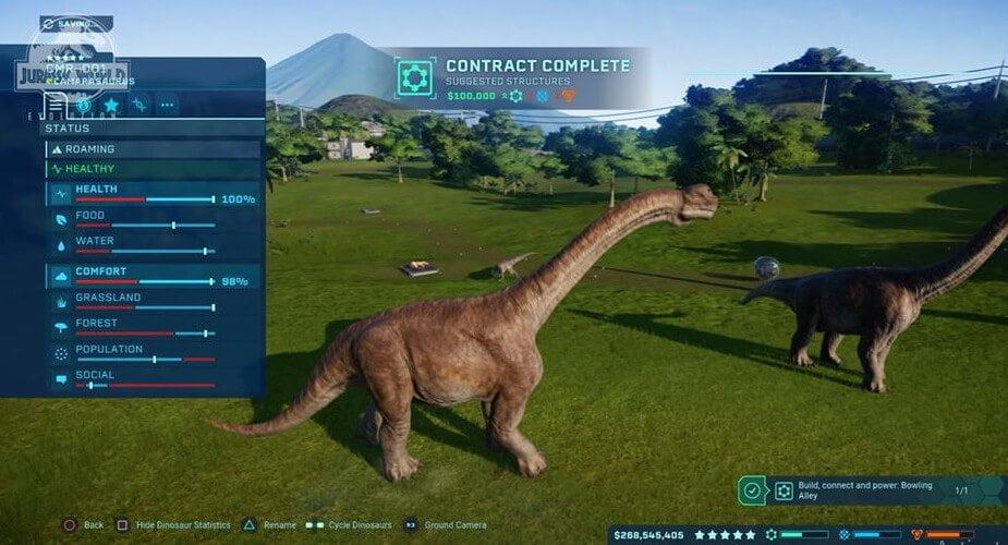 Playstation 4 Cheats of jurassic world evolution