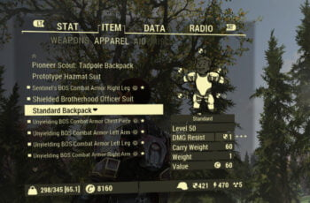 Fallout 76 Invisible Backpack Mod